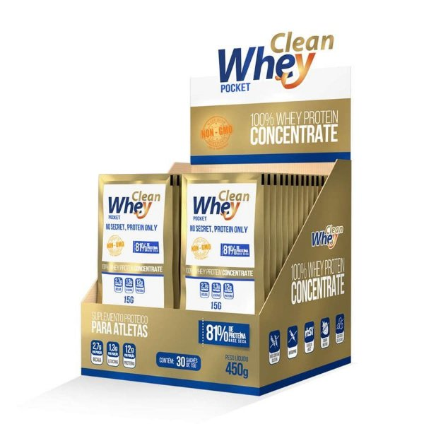 Clean Whey Concentrado - 30 sachês
