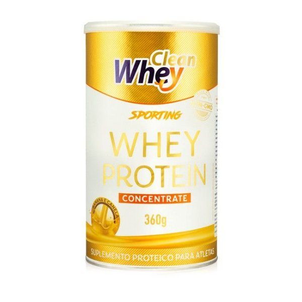 Clean Whey Concentrate Sporting Banana c/ Canela 360g