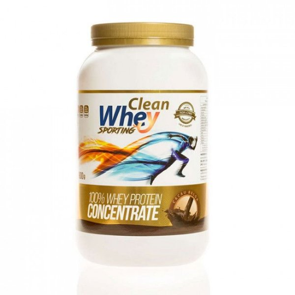 Clean Whey Concentrate Sporting Cacau Belga 900g