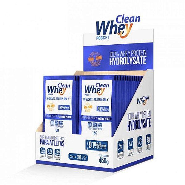 Sachê Clean Whey Hydrolysate caixa c/ 30 unidades
