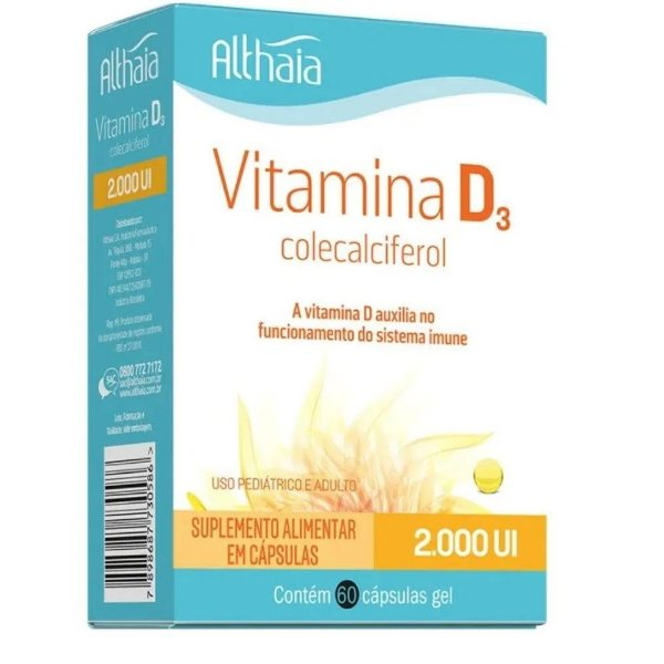 VITAMINA D 2.000UI – Equaliv – 60 caps – kit c/ 3