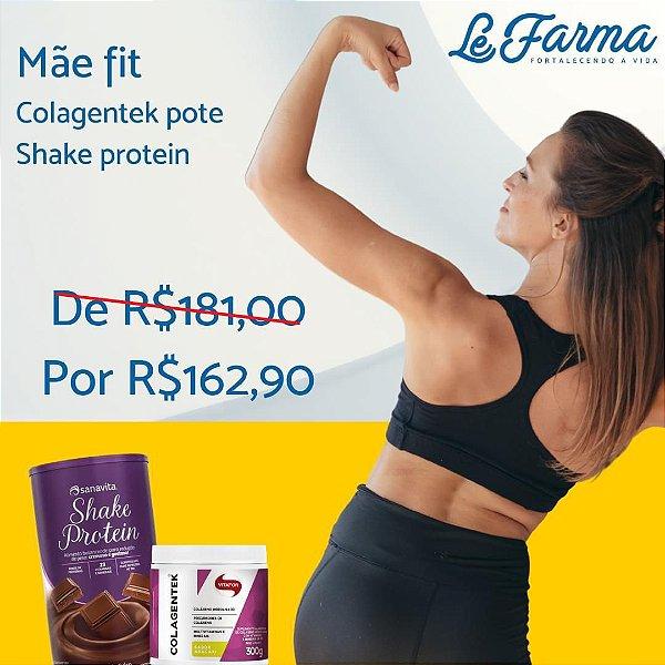 "KIT ""MÃE FIT"" 01 SHAKE PROTEIN SANAVITA + 01 COLAGENTEK 300G VITAFOR"