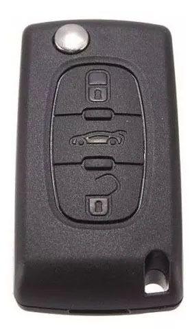 Chave canivete completa para veículo modelo citroen c4 pallas 2008 até 2013 - botão porta malas