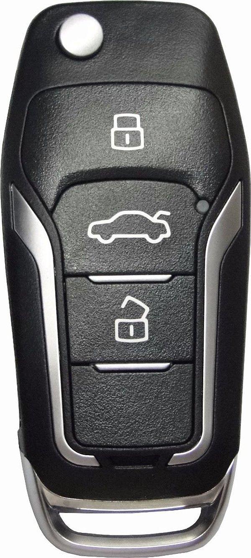 Chave canivete completa para veículo modelo ford new fiesta 2011 até 2016