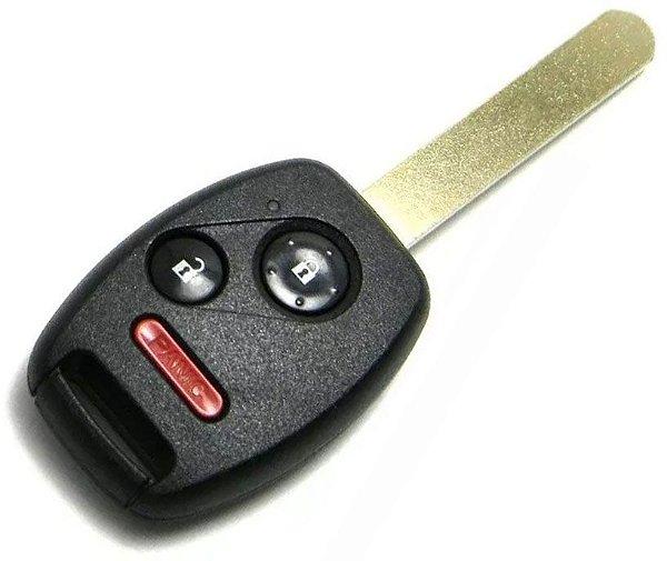 Chave telecomando completa para veículo modelo honda city 2010 até 2014