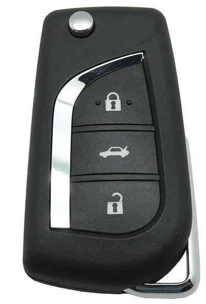 Chave canivete completa para veículo modelo toyota corolla 2012 até 2014