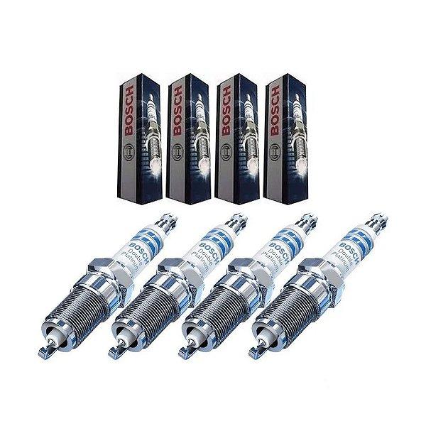 Jogo Velas Ignição Bosch Double Platinum VR7SPP33 | 0242135524 FLUENCE 2.0 16V LIVINA 1.6 16V