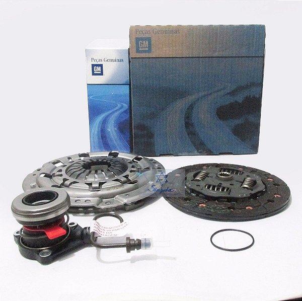 Kit Embreagem com Atuador ORIGINAL GM Corsa Novo 1.8 8v 2002 03 04 05 06 07 08 09 10 11 e 2012