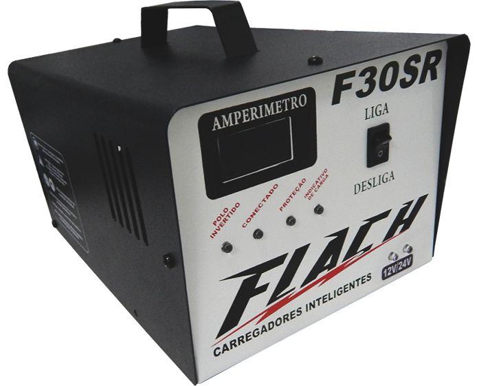Carregador de Bateria Inteligente Flach F30 SR 12/24