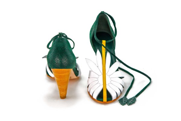 Sandália de Salto Margarida - Verde