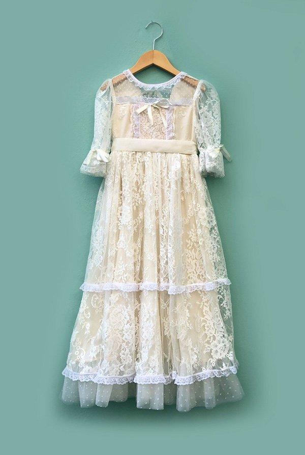 Vestido Boneca de pano longo Off White