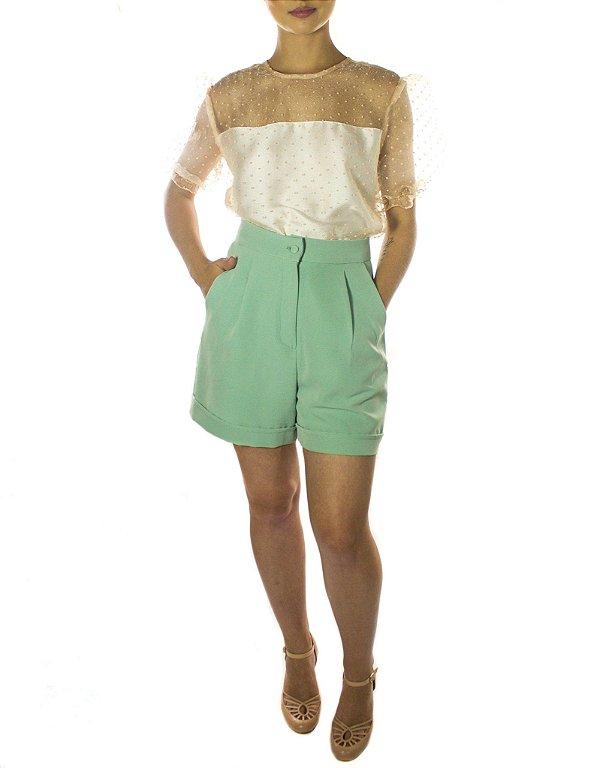 Short Alfaiataria - Verde