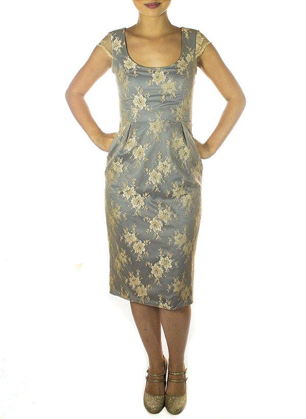 Vestido Audrey - Cinza