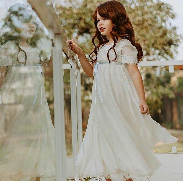 Vestido Favo de Mel - Off White