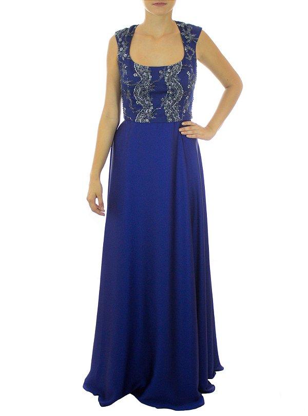 Vestido Bolinha de Gude Manguinha - Azul