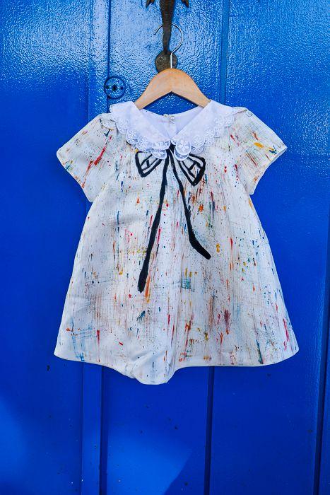 Vestido Pollock - Off White