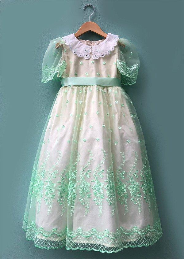 Vestido Menina Doce - Verde