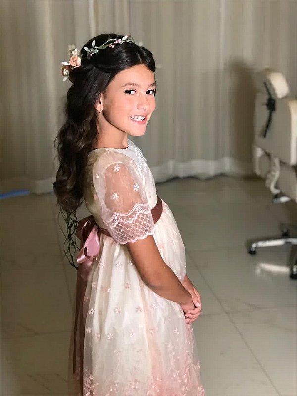 Vestido Menina Doce - Rosa