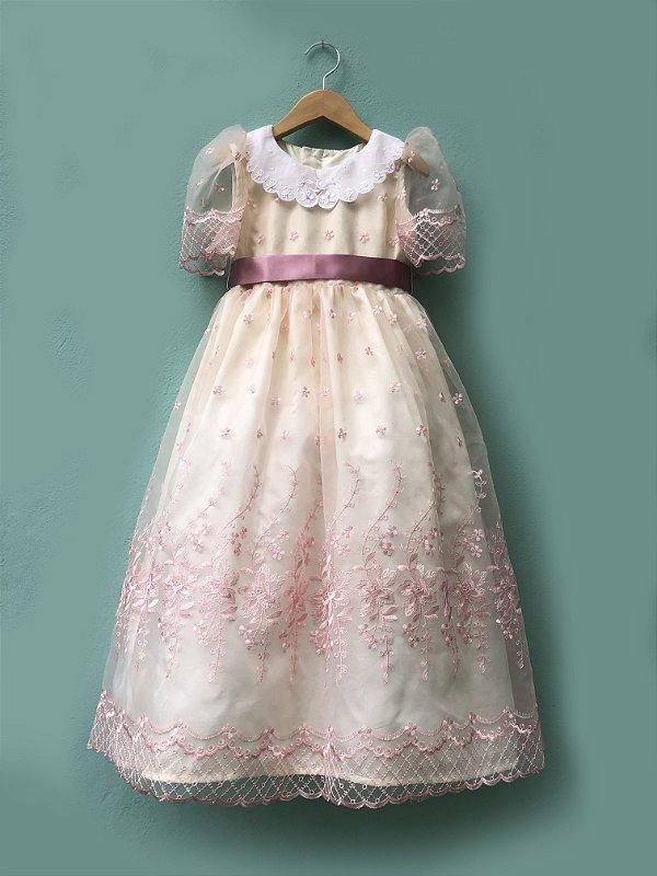 Vestido Menina Doce - Rosê