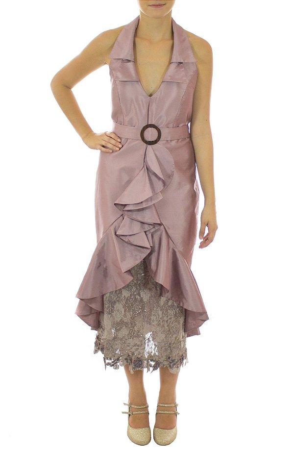 Vestido Catavento - Rosê