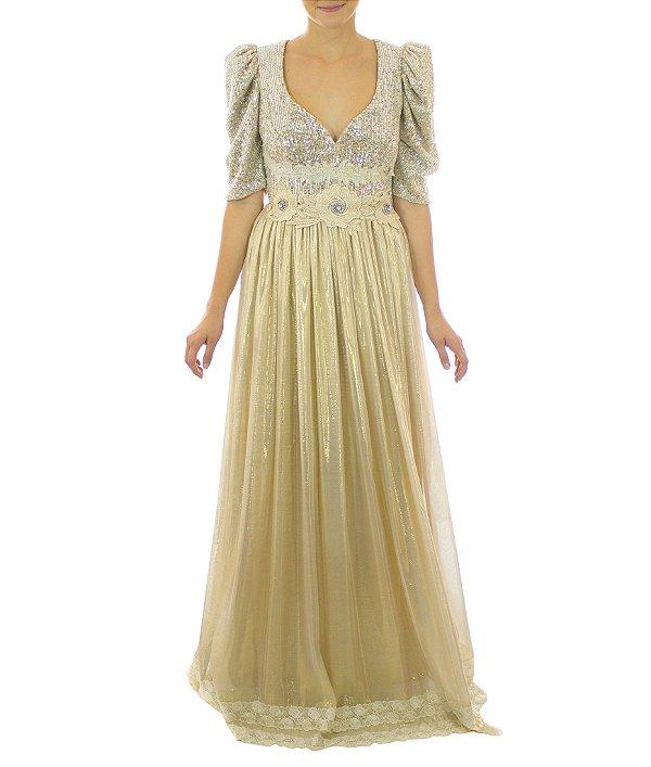 Vestido Estela - Dourado
