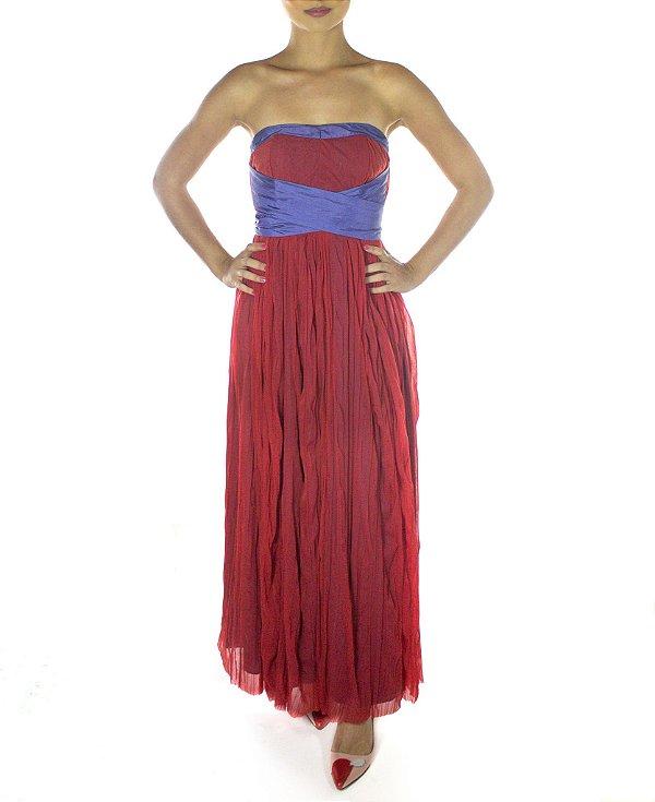 Vestido Flor de Maracujá - Vermelho
