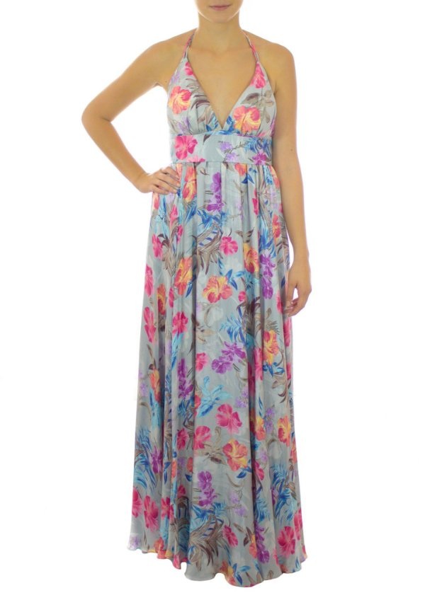 Vestido Jardim de Monet - Azul