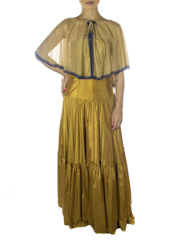 Vestido Ocre - Marrom