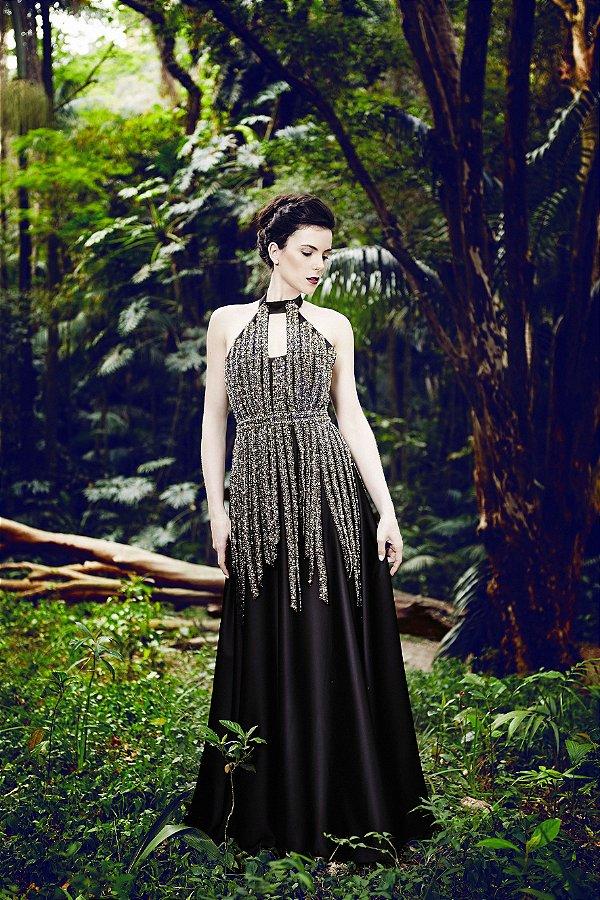 Vestido Princesa Aurora - Preto