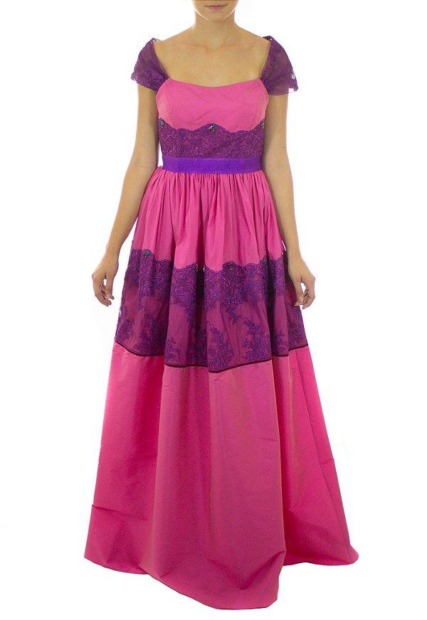 Vestido Princesa Tiana Longo - Rosa