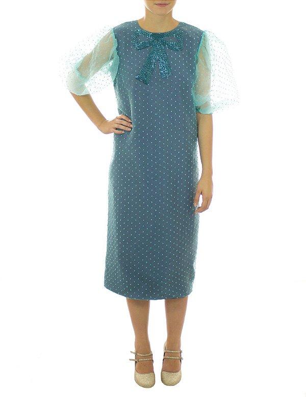 Vestido Sereno da Noite - Azul