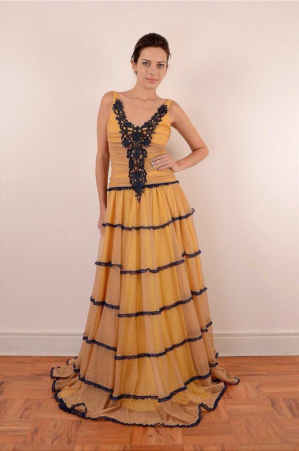 Vestido Sevilhana - Dourado