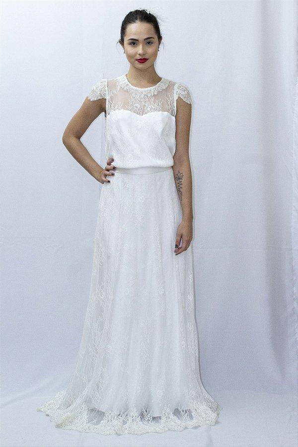 Vestido de Noiva Ofélia Rendado