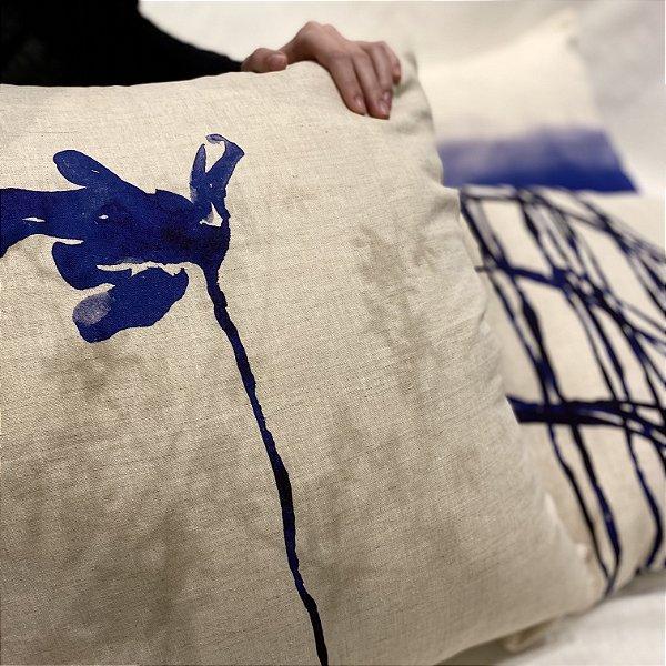 Almofada Flor de Lágrima cor azul