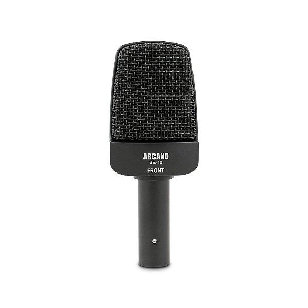 Microfone dinâmico Arcano SE-10 para amplificadores c/ bag