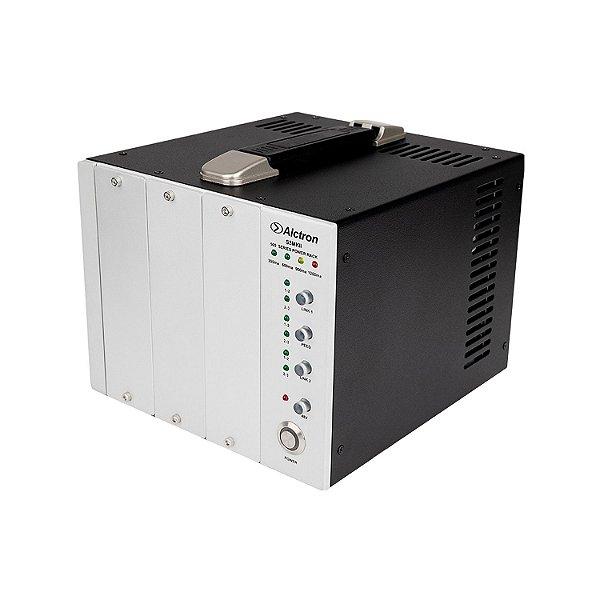 Rack de potência série 500 Alctron S3 MKII gabinete 3 slots
