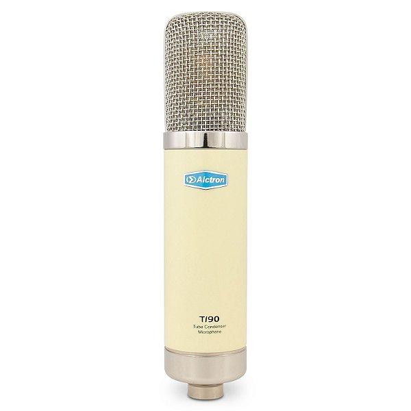 Microfone condensador de tubo Alctron T190 valvulado c/ módulo e case de madeira