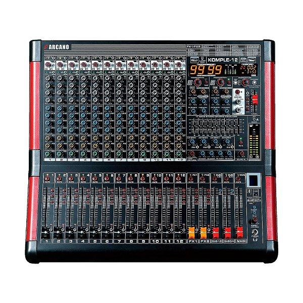 Mesa de som Arcano KOMPLE-12 s/ interface, bluetooth e MP3