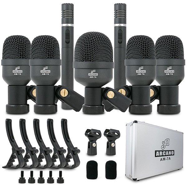 Kit de 7 microfones para bateria Arcano AM-7A