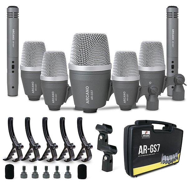 Kit de 7 microfones para bateria Arcano AR-GS7
