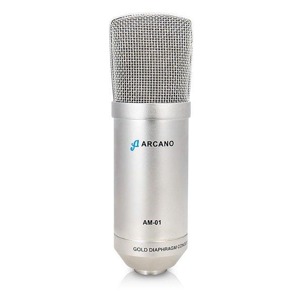Microfone condensador XLR Arcano AM-01 c/ shock mount