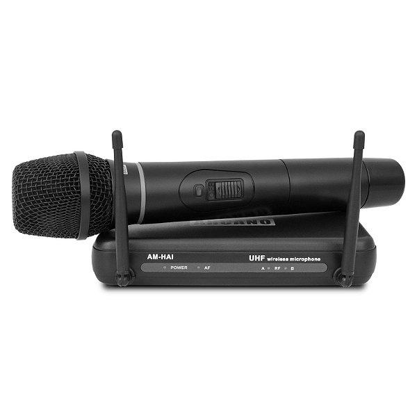 Microfone sem fio UHF Arcano AM-HA1 c/ transmissor de mão