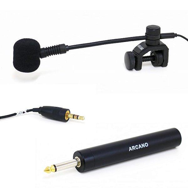 Microfone condensador para instrumento WZS-3000 c/ adaptador P10 sax