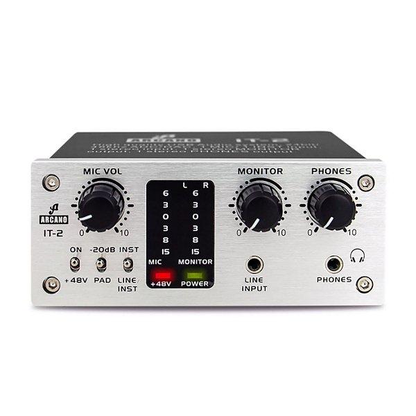 Interface de áudio USB Arcano IT-2 com pre-amp