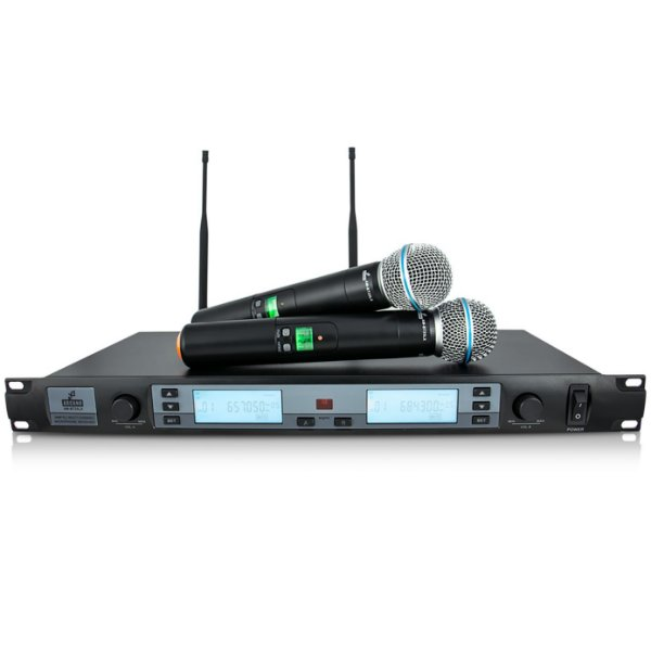 Microfone sem fio duplo UHF Arcano AM-BT25LX