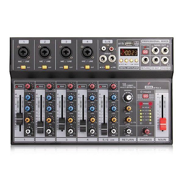 Mesa de som e interface USB Arcano MINIA-6
