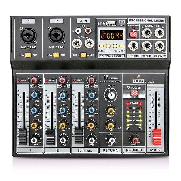 Mesa de som e interface USB Arcano MINIA-4