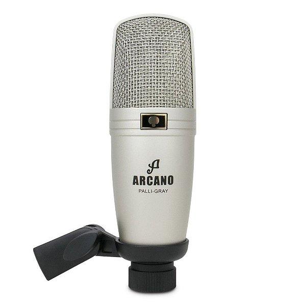 Microfone condensador XLR Arcano PALLI-GRAY c/ suporte