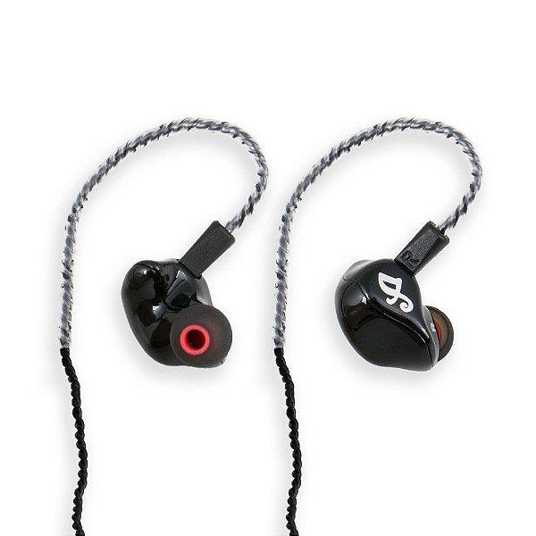 Fone de ouvido in-ear ponto Arcano ARIER-1 profissional 4 drivers