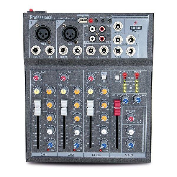 Mesa de som Arcano MM-4 com 4 canais